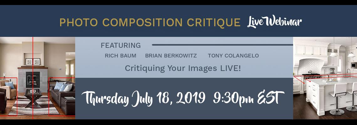Webinar Announcement: Composition Photo Critique with Tony Colangelo