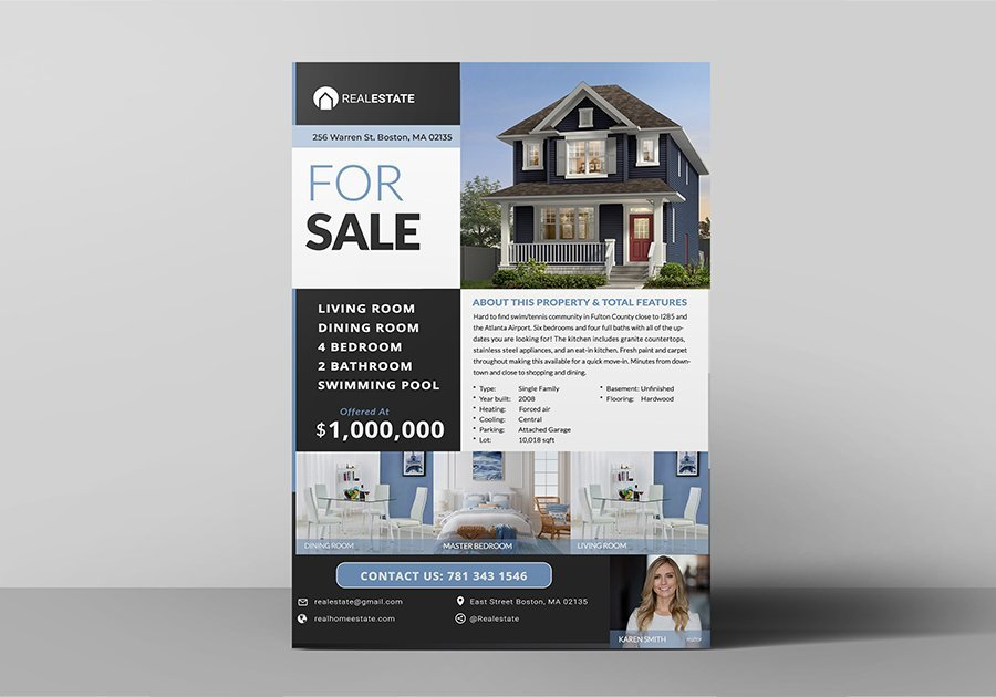 Real Estate Listing Flyer Photo
